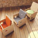 moderner Stuhl / für Kinder / Holz