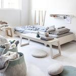 Standardbett / Einzel / modern / aus Birke