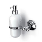 Objektmöbel-Seifenspender / wandmontiert / Metall / Keramik