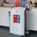 Park-Abfalleimer / Recyclingkunststoff / für öffentliche Bereiche / modern