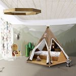Standardbett / Einzel / originelles Design / Holz