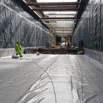 Geomembran für Tunnel / imprägnierend