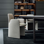 Moderner Stuhl / Leder / Textil / von Rodolfo Dordoni GUEST Poliform