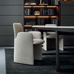 Modern Stuhl / Leder / Textil / von Rodolfo Dordoni GUEST Poliform