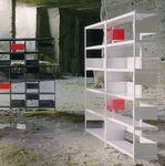 Modern Regal / aus amerikanischem Nussbaumholz / aus Eiche / von Konstantin Grcic ZIGZAG    DRIADE