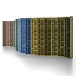 Modul Bibliothek / modern / Gewerbe / lackiertes MDF
