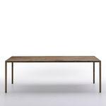 Standardtisch / aus Messing / aus Eiche / aus Kunststein TENSE MATERIAL by Piergiorgio Cazzaniga MDF Italia