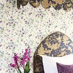 moderne Tapete / Blumenmuster / Vlies / bedruckt
