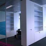 Festinstallierte Trenn§wand / aus Holz / Glas / Schallschutz TABIQUE ARMARIO by Arlex I&D Arlex