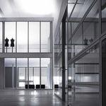 festinstallierte Trennwand / Metall / Glas / Büro