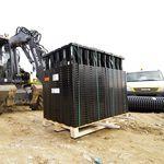 erdverlegter Boxsystem zur Regenwasserversickerung