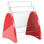 Ablage Regal / für Theken / für Broschüren / aus Kunststoff / für berufliche Nutzung