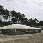 Membran-Architektur / aus Leinen / für Seiltragwerk / für Dächer