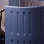 Schreibtisch Trennwand / Bodenmontage / Gewebe