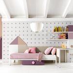 weißes Kinderzimmer / rosa / Holz / für Mädchen
