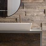 Holz-Verblendstein / Innenbereich / strukturiert / Dekor