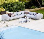 modulierbares Sofa / Skandinavisches Design / für den Garten / Aluminium