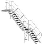 gerade Treppe / gera Stufen Metall / Metallstruktur / ohne Setzstufe
