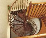 Spindel-Treppe / Metallstruktur / gera Stufen Metall / ohne Setzstufe WITH 3 BALUSTERS PER TREAD British Spirals & Castings