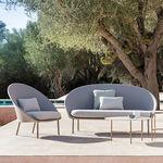 modernes Sofa / für den Garten / Aluminium / Stoff