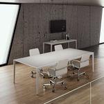 Besprechungstisch / modern / Holz / aus Aluminiumguss
