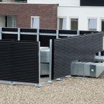 Fassadenverkleidung aus Aluminium / profiliert / Platten / für hinterlüftete Fassade