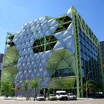 Stahl-Fassadenverkleidung / Texlon® ETFE / 3D / Platten