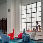 Hocker / originelles Design / aus Kunststoff / für Kinder / blauer TINO  Myyour