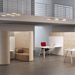 Schallschlückplatte für Innenwand / Holz / Stoff / für Büro