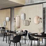 wandmontierter Spiegel / Stil / rechteckig / pulverbeschichteter Stahl