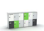 Metall-Garderobenschrank / Zahlen / für Lagerung