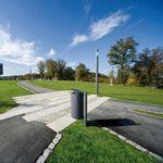 Park-Abfalleimer / aus verzinktem Stahl / modern CARPO Hess GmbH Licht + Form