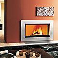 moderne Kaminverkleidung / aus Stahl - BIX BOX 100