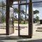 Eingangstür / einflügelig / Aluminium / verglast