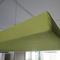 Akustikplatte für Decken / für Innenwand / Stoff / farbig