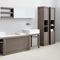 modernes Regal / Holz / Badezimmer
