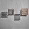 wandmontiertes Regal / modern / Holz / lackiertes Metall