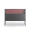 hohes Sideboard / modern / Glas / Aluminium