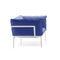 moderner Sessel / Stoff / Aluminium / mit abnehmbaren Bezug