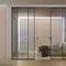 verglaste Tür / Innenbereich / Schiebe / Aluminium