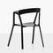 moderner Stuhl / mit Armlehnen / Stapel / mit abnehmbarem Kissen