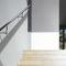 Edelstahlgeländer / Glasplatten / Außenbereich / für Treppen