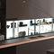 modernes Regal / Glas / für Küchen / LeuchtAIR LOGICA SYSTEMVALCUCINE