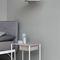 moderner Nachttisch / aus lackiertem Stahl / Leder / rechteckig