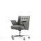 moderner Bürosessel / Leder / mit Rollen / sternförmiger Fuß