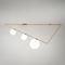 moderne Deckenleuchte / Glas / gebürstetes Messing / LED