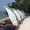abgesetzter Sonnenschirm / Metall / schwenkbar / windbeständig