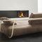 modernes Sofa / Leder / Massivholz / Bugholz