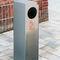 Park-Abfallbehälter / Edelstahl / verzinkter Stahl / mit integriertem Aschenbecher