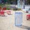 Park-Abfallbehälter / verzinkter Stahl